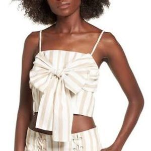 NWT Chriselle X J.O.A Tie Front Crop Top